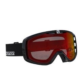 Salomon Aksium Snow Goggles - Black ~ Uuniversal Mid Red