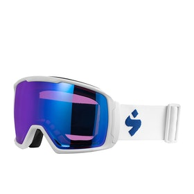 Sweet Clockwork RIG Snow Goggles - Satin White ~ Rig Sapphire