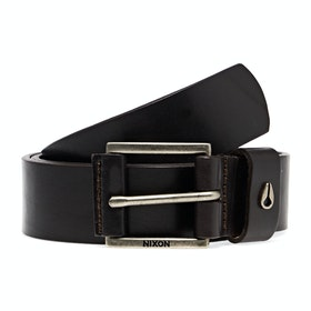 Cinturón de cuero Nixon Americana - Dark Brown