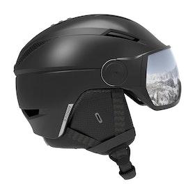 Casque de Ski Salomon Pioneer Visor - Black /silver Universal