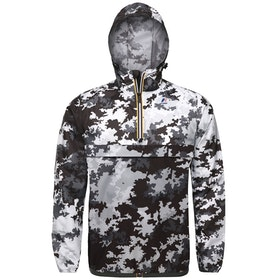 K-Way Le Vrai 3.0 Leon Graphic Waterproof Jacket - Snow Camouflage