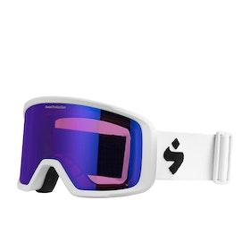 Sweet Firewall Snow Goggles - Satin White ~ Satin Sapphire