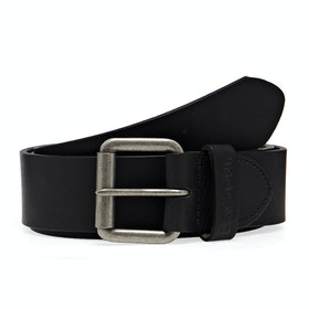 Barbour Matt Men's Leather Belt - Matt Black