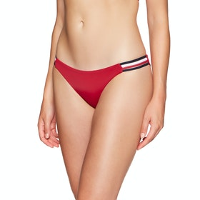 Tommy Hilfiger Signature Tape Bikini Bottoms - Tango Red