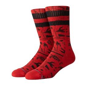 Stance John John Florence Voyage Socks - Red