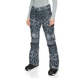 DC Recruit Womens Snow Pant - Black Mud Cloth Print