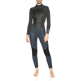 Animal Lava 4/3mm Back Zip Womens Wetsuit - Graphite Grey