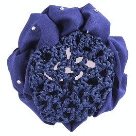QHP Flower Bow Hairnet - Navy