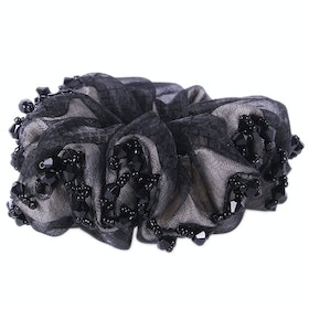 QHP Sparkle Scrunchie - Black