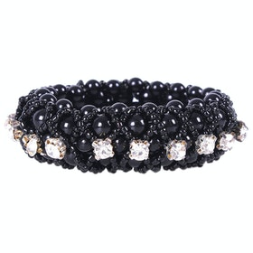 QHP Diamond Scrunchie - Black