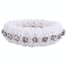 QHP Diamond Scrunchie - White