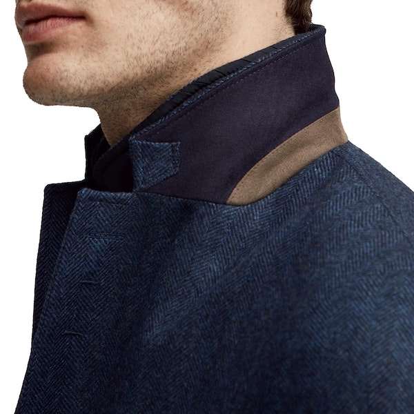 Hackett Herringbone With Moleskin Bib Knits