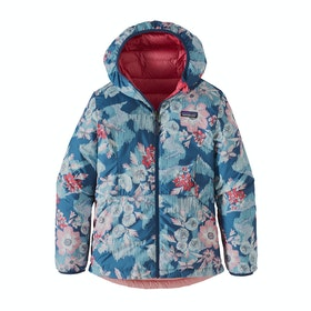 Veste Patagonia Girls' Reversible Sweater Hoody - Range Pink