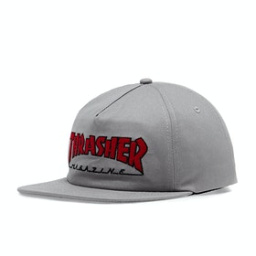 Gorro Thrasher Outlined Snapback - Grey Red