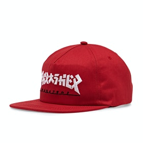 Thrasher Godzilla Snapback Cap - Red