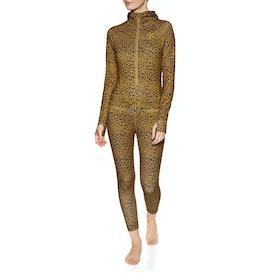 Leggings Abbigliamento Base Donna Airblaster Classic Ninja Suit - Leopard