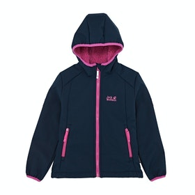 Veste Soft Shell Enfant Jack Wolfskin KisseKatt - Midnight Blue