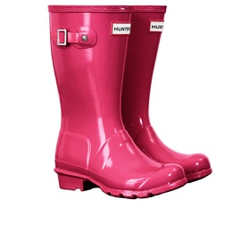 Hunter Original Gloss Kinder Gummistiefel - Bright Pink