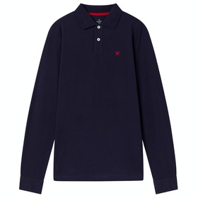 Hackett Cotton Slim Fit Logo Polo Shirt - Navy