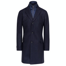 Hackett Navy Herringbone Jacket - Navy