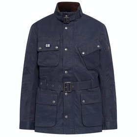 Hackett Wax Cotton Velo Jacket - Navy
