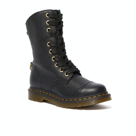 Dr Martens Aimilita Damen Stiefel - Black Aunt Sally Watch Tartan