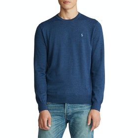 Knits Polo Ralph Lauren Washable Merino - Federal Blue Heather