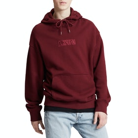 Levi's Oversized Graphic JT Pullover Hoody - Ssnl Babytab Tech Cabernet