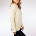 Peregrine Made In England Large Cable Crew Women's Knits