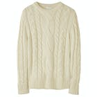 Peregrine Made In England Large Cable Crew Damen Knits