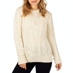 Peregrine Made In England Large Cable Crew Ladies Knits - Cream
