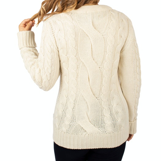 Peregrine Made In England Large Cable Crew Ladies Knits