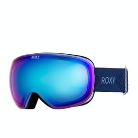 Roxy Popscreen Womens Snow Goggles - Medieval Blue ~ Sonar Multilayer Blue