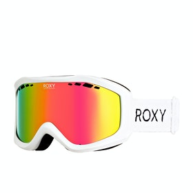 Roxy Sunset Womens Snow Goggles - Bright White ~ Multilayer Pink