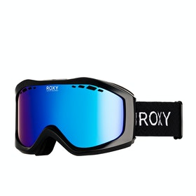 Roxy Sunset Womens Snow Goggles - True Black ~ Multilayer Blue