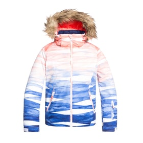 Roxy Jet Ski Girls Snow Jacket - Mid Denim Yumi Yamada Print