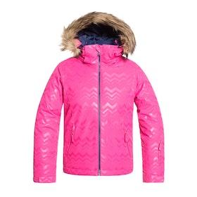 Roxy Jet Ski Girls Snow Jacket - Beetroot Pink