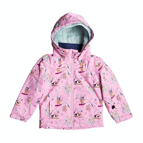Roxy Mini Jetty Girls Snow Jacket - Prism Pink Trip
