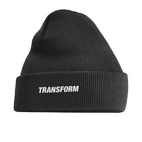 Transform Fast Text Beanie - Black