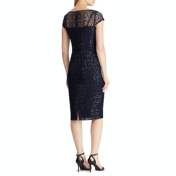 Lauren Ralph Lauren Akirah Cap Sleeve Cocktail Women's Dress