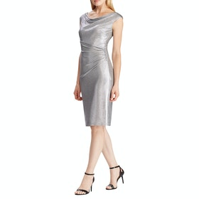 Lauren Ralph Lauren Lovella SS Cocktail Dress - Dark Grey Silver