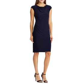 Lauren Ralph Lauren Theona Cap Sleeve Day Women's Dress - Lighthouse Navy