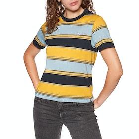 Volcom Chromatic Womens Short Sleeve T-Shirt - Cool Blue
