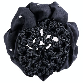 QHP Flower Bow Hairnet - Black