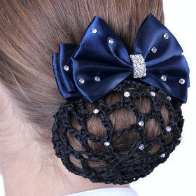 QHP Chique Bow Hairnet - Navy Black