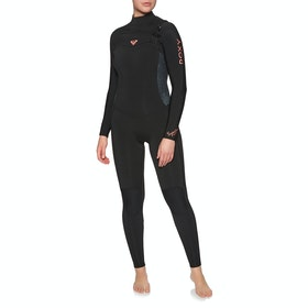 Roxy Syncro 5/4/3mm Chest Zip Womens Wetsuit - Black Gun Metal