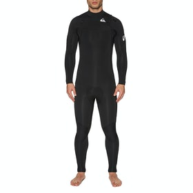 Quiksilver 5/4/3mm Syncro Chest Zip Wetsuit - Black White