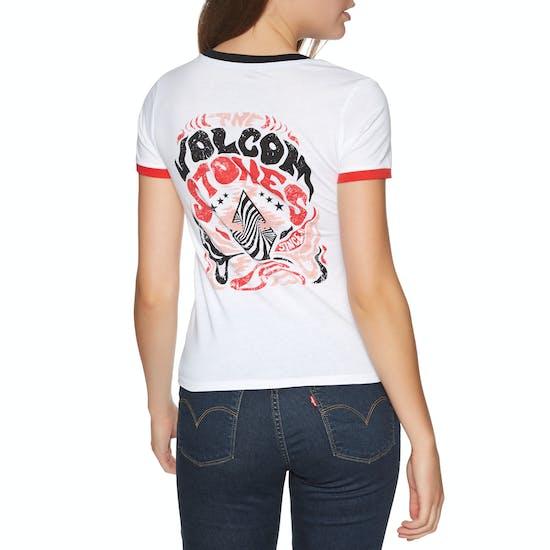Volcom Go Faster Ringer Ladies Short Sleeve T-Shirt
