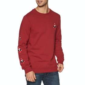 Sweat Volcom Santastone Crew - Deep Red