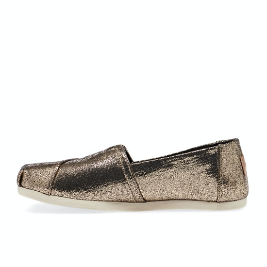 Toms Gold Crackle Shimmer Womens Espadrilles